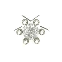 Beautiful Ayushi White Gold Diamond Nosepin