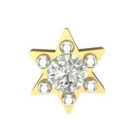 Beautiful Ayurda Yellow Gold Diamond Nosepin