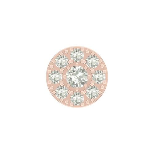 Beautiful Ayugu Rose Gold Diamond Nosepin