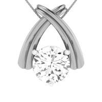 925 Sterling Silver Iris Pendant