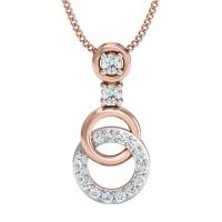 Aaradhana Gold and Diamond Pendant