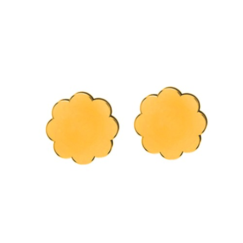 Aayushi Yellow Gold Stud Earring