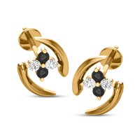 Adaline Black Diamond Earring