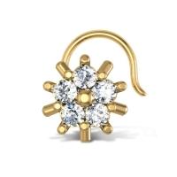 Alana Yellow Gold Diamond Nosepin Wire