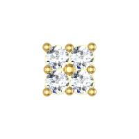 Allyson Yellow Gold Diamond Nosepin Screw