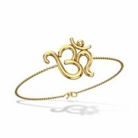 Almyra Om Initial Chain Rakhi