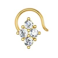 Macy Yellow Gold Diamond Nosepin Wire