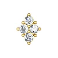 Alora Yellow Gold Diamond Nosepin Screw