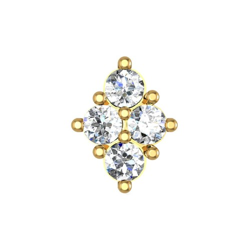 Alora Yellow Gold Diamond Nosepin Screw