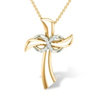 Amara Jesus  Diamond Pendant