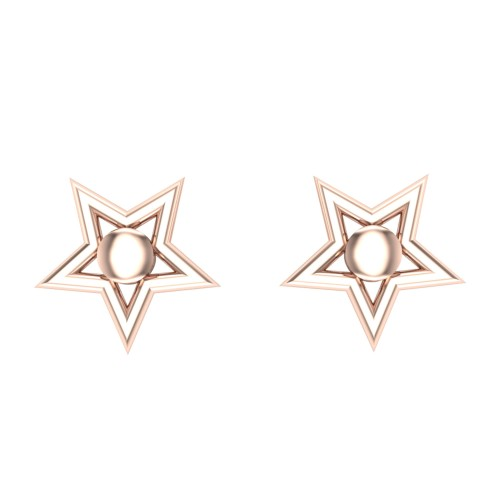 Anandi Gold Stud Earring