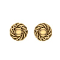 Asha Gold Stud Earring