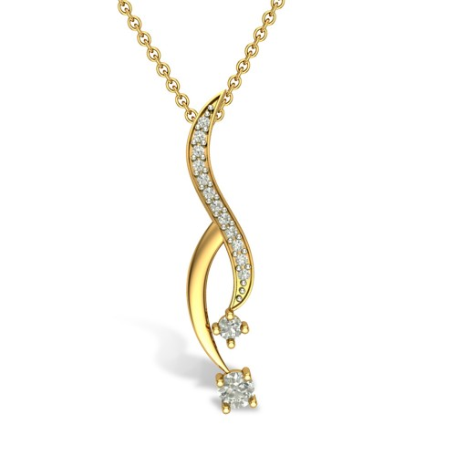 Ashu 18kt Gold & Diamond Pendant