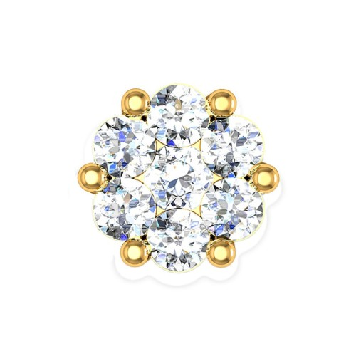 Azalea Yellow Gold Diamond Nosepin Screw