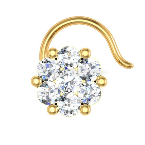 Giselle Yellow Gold Diamond Nosepin Wire