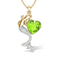 Blessing Mermaid Diamond Pendant