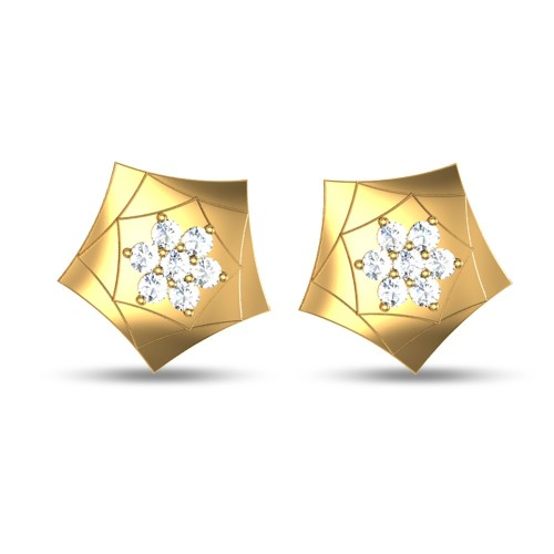 Brynlee Gold Stud Earring