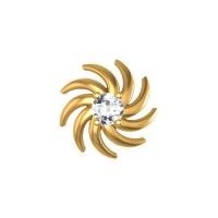 Coraline  Yellow Gold Diamond Nosepin Screw