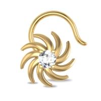 Sabrina Yellow Gold Diamond Nosepin Wire