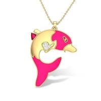 Dalary Dolphin Diamond Pendant
