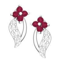 Eena White Gold Stud Earrings