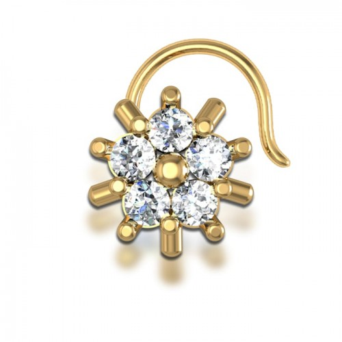 Alana Yellow Gold Diamond Nosepin Wire