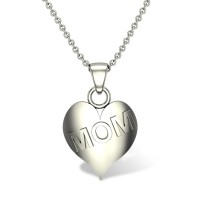 Mom Heart Gold Pendant