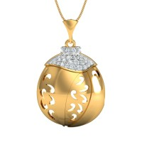 Yessica Gold and Diamond Pendant