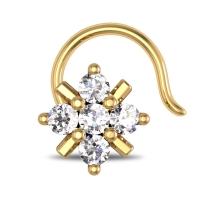 Kaya Yellow Gold Diamond Nosepin Wire