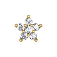 Harmoni Yellow Gold Diamond Nosepin Screw