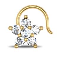 Chana Yellow Gold Diamond Nosepin Wire