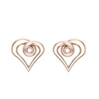 Heart Gold Studs