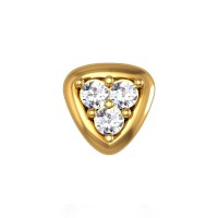 Heavenly Yellow Gold Diamond Nosepin Screw
