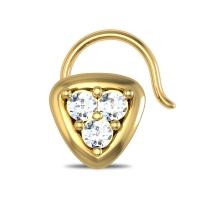 Karlee Yellow Gold Diamond Nosepin Wire