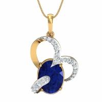 Hemangini Gold and Diamond Pendant
