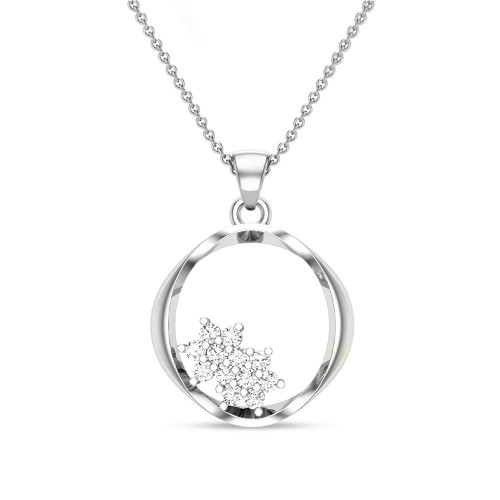 Adelyn Initial Diamond Pendant