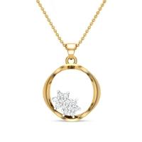 Isabela Initial Diamond Pendant