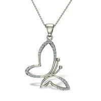 Kaiden Butterfly Diamond Pendant
