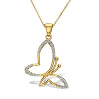 Kaiya Butterfly Diamond Pendant