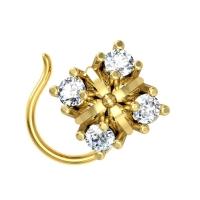 Zahra Yellow Gold Diamond Nosepin Wire