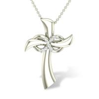 Kaylie Jesus  Diamond Pendant