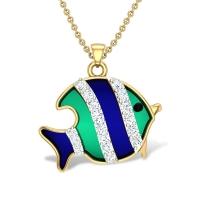 Kenia Fish Diamond Pendant