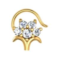 Deborah Yellow Gold Diamond Nosepin Wire