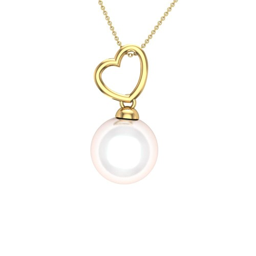 Gianna Heart Gold Pendant