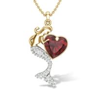 Little Glitter Mermaid Diamond Pendant