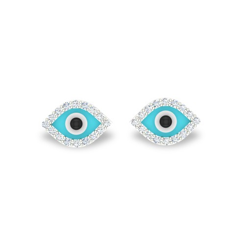 Evil Eye Diamond  Earrings