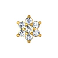 Maeve Yellow Gold Diamond Nosepin Screw