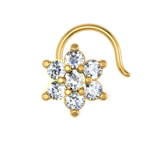 Blake Yellow Gold Diamond Nosepin Wire