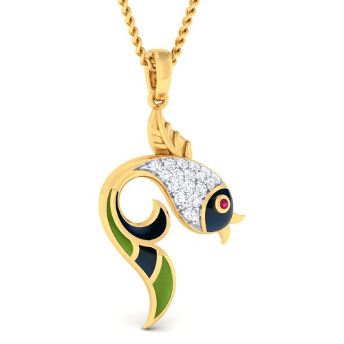 Matsya Diamond Pendant