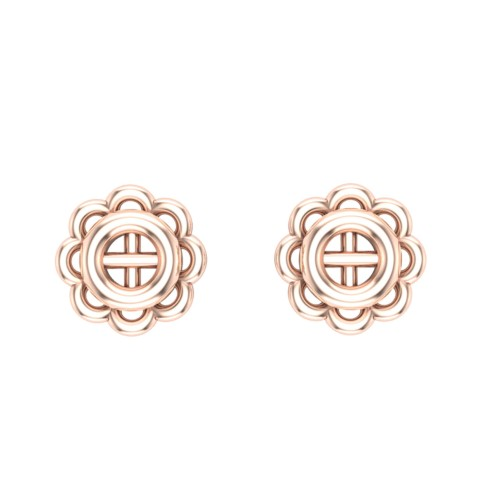 Mausami Gold Stud Earring